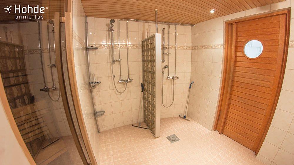 Nanopinnoitettu kylpyhuone